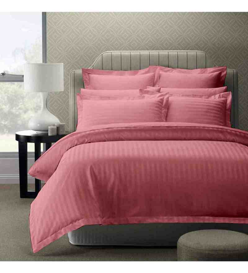 Pink 100% Cotton 108 x 108 Inch Foreverxl Bed Sheet Set by Story@Home