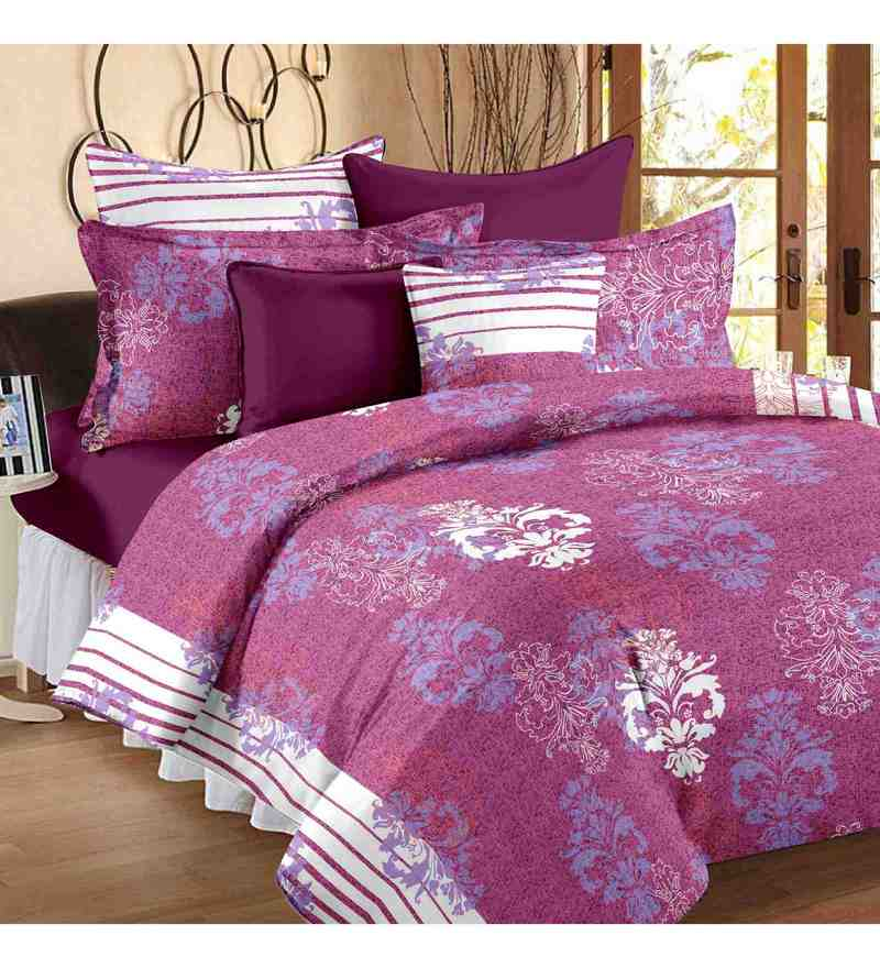 Multicolour 100% Cotton 88 X 93 Inch Candy Bed Sheet Set by Story@Home