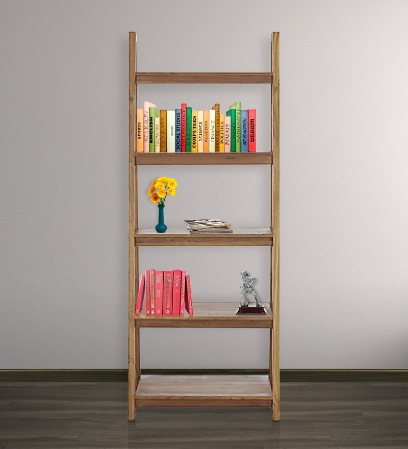 Strut Display Unit cum Book Shelf in Light Brown Colour by Asian Arts