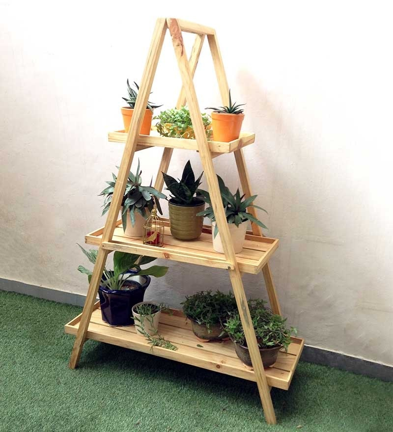Alps Ladder Planter Shelf by Studio Earthbox
