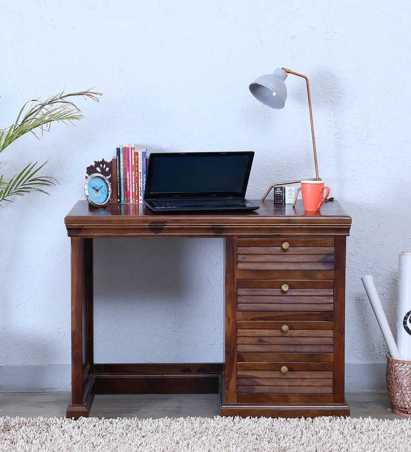 Carleson Study & Laptop Table in Provincial Teak Finish by Amberville