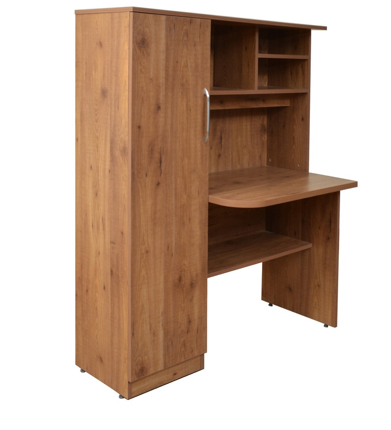 Online Shopping Study Table: Buy Study Table In Knotty Wood Finish By Crystal Furnitech