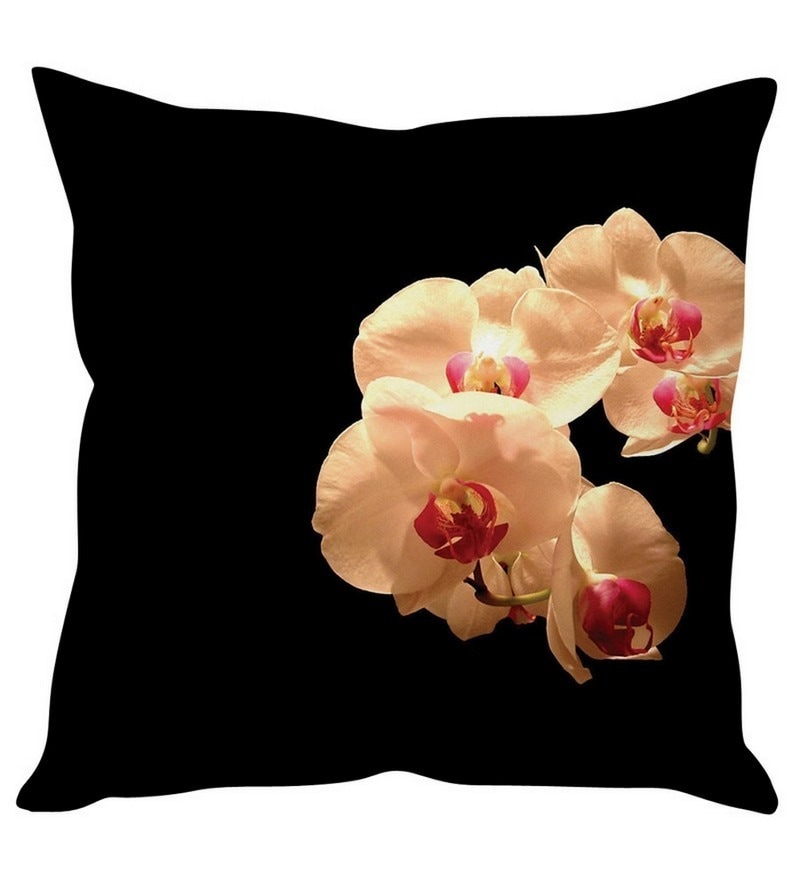 Black Silk 16 x 16 Inch Cushion Cover by Stybuzz