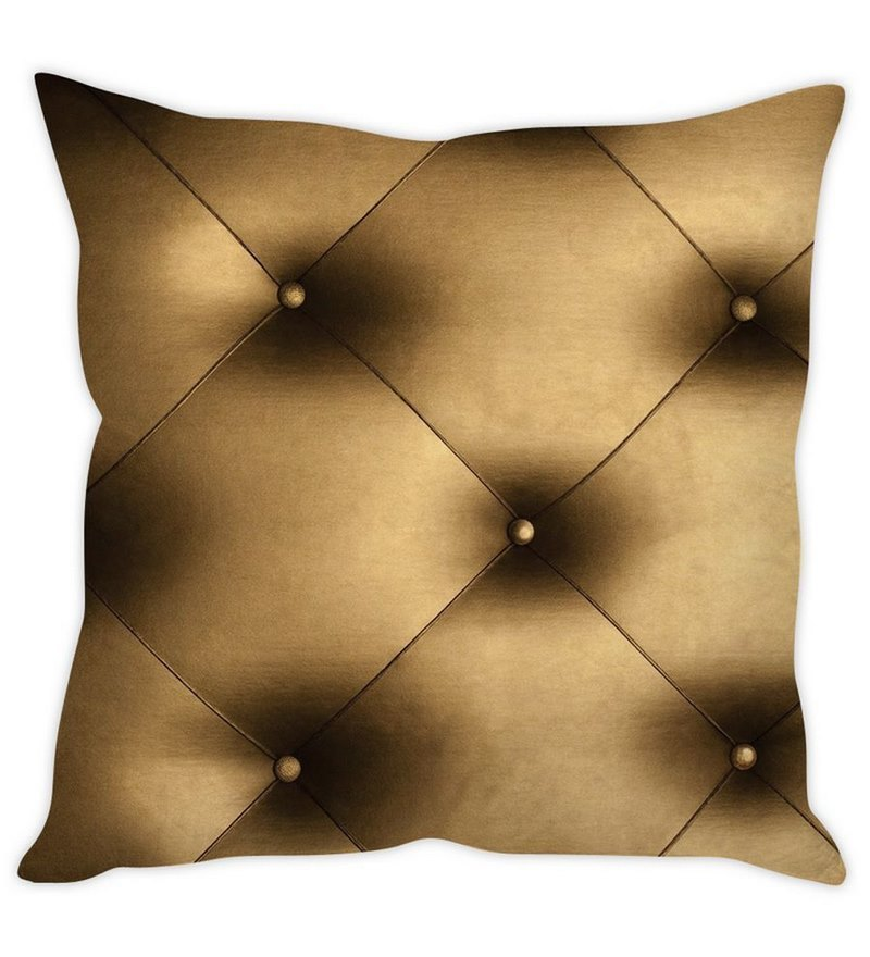 Brown Silk 16 x 16 Inch Quilt Print Cushion Cover by Stybuzz