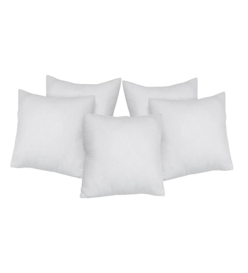 White Fibre Cushion Filler - Set of 5 by Stybuzz