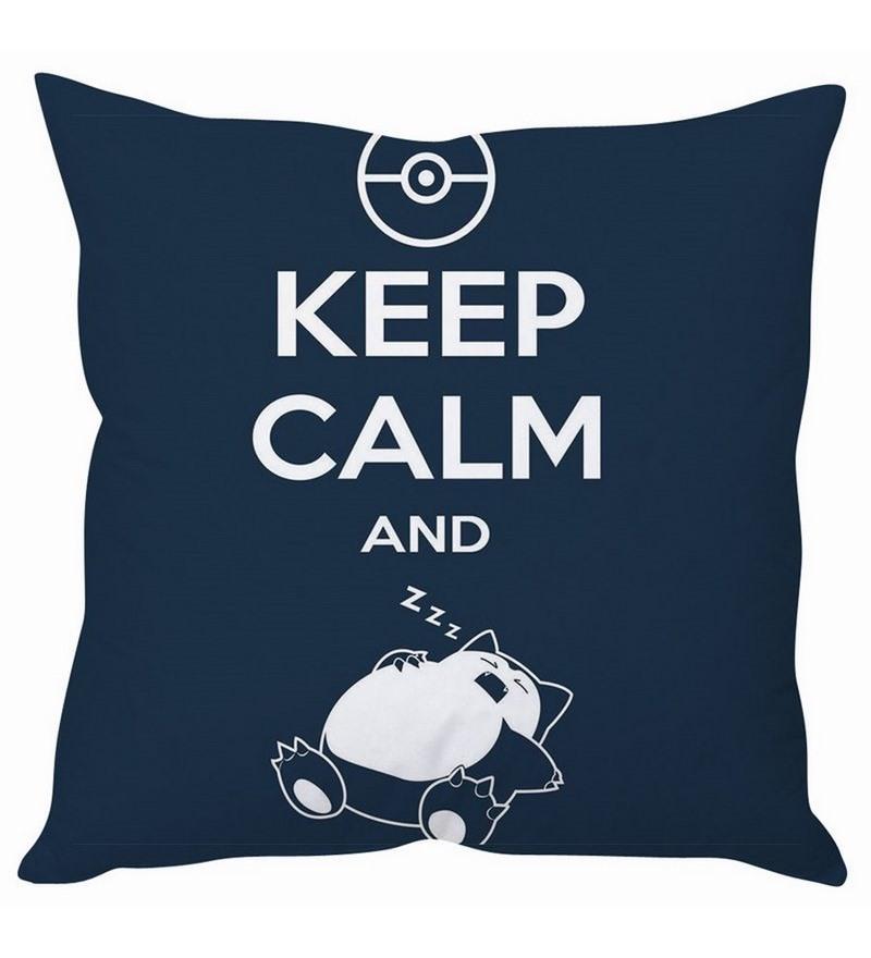 Keep Calm & Sleep Pokemon Silk Cushion Cover by Stybuzz