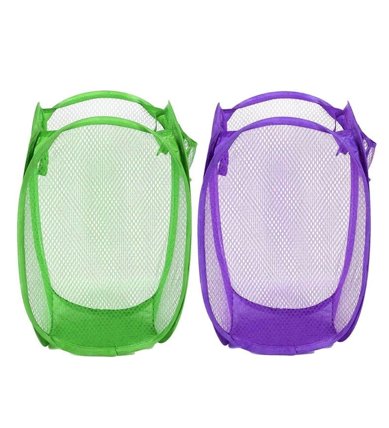Stybuzz Nylon Foldable Laundry Bag - Set Of 2
