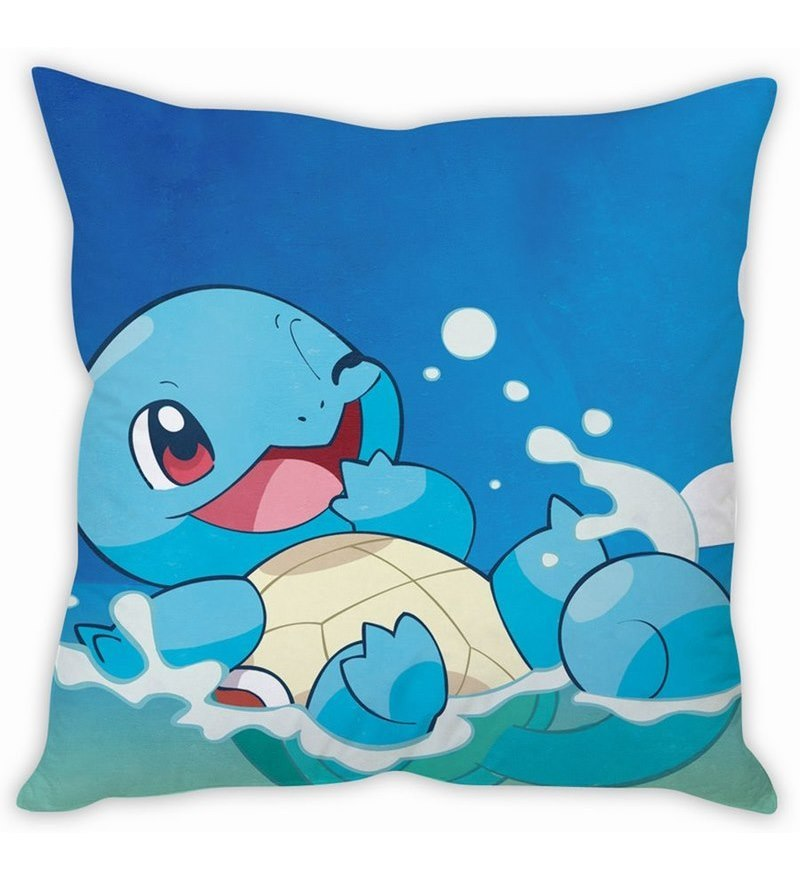 Squirtle Pokemon Silk Cushion Cover by Stybuzz