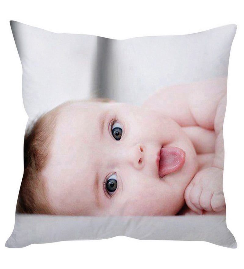 Baby White Silk Cushion Cover by Stybuzz