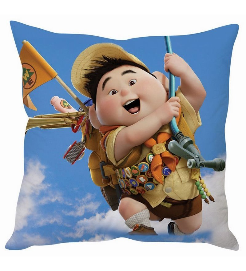 Up Disney Silk Cushion Cover by Stybuzz