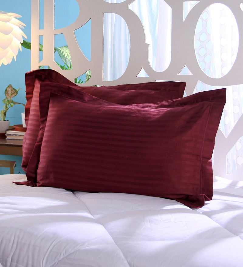 Violet Cotton 18 x 27 Pillow Cover - Set of 2 by Stybuzz