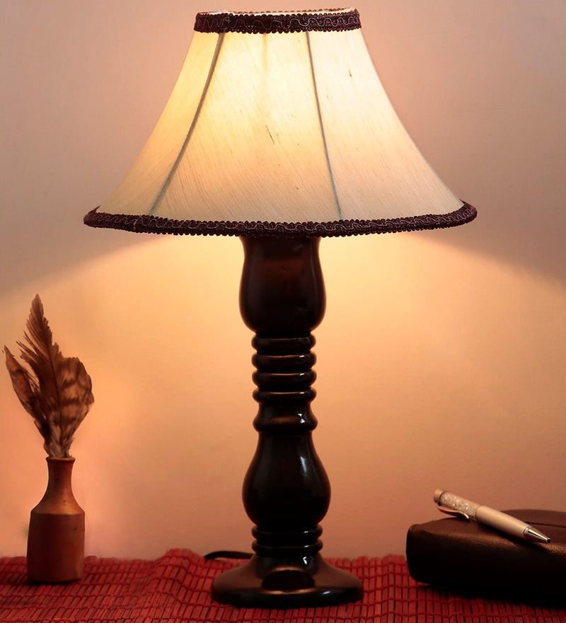 Beige Fabric Table Lamp by Style Home