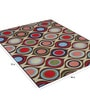 Multicolour Nylon 72 x 48 Inch Graceful Taba Area Rug by Status