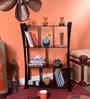 Espresso Walnut Wooden Weblock 4 Tier Wall Shelf by La Stella