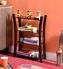 La Stella Provincial Teak Wooden Xcurio 4 Tier Wall Shelf