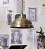 Antique Brass Metal Pendant by Stello