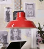 Red and White Metal Pendant by Stello