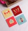Stybuzz Bar Theme Multicolour Acrylic Square Coasters - Set Of 4