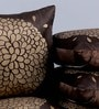 Black Velvet 16 x 16 Inch Gold Print Cushion Cover - Set of 5 by Stybuzz