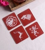 Stybuzz Game Of Throne Multicolour Acrylic Square Coasters - Set Of 4
