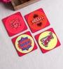 Stybuzz Hindi Movie Multicolour MDF Square Coasters - Set Of 4
