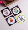 Stybuzz Minion In Marvel Multicolour Acrylic Square Coasters - Set Of 4
