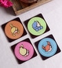 Stybuzz Zodiac Signs Multicolour Acrylic Square Coasters - Set Of 4