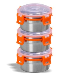 Sumeet Stainless Steel Airtight & Leak Proof Omg Containers - Set Of 3 - 1668122