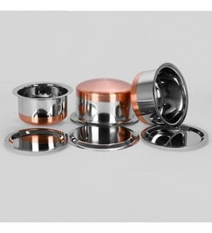 Sumeet Stainless Steel Copper Bottom Topes - Set Of 3