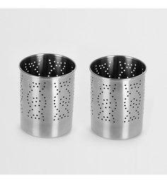 Sumeet Stainless Steel Cutlery Holders - Set Of 2