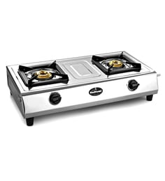 Sunflame Shakti Stainless Steel 2 Burners Cooktop