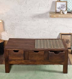 Susan Moss Coffee Table With Drawers In Paintco Teak Finish
