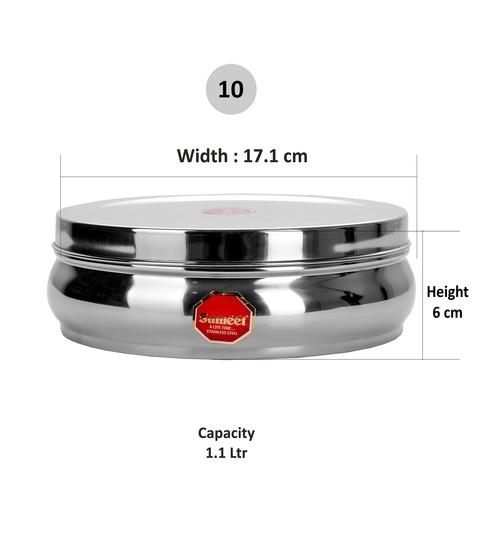 18b16b84c Buy Sumeet Stainless Steel Silver 1100 ML Masala Box - Set of 9 ...
