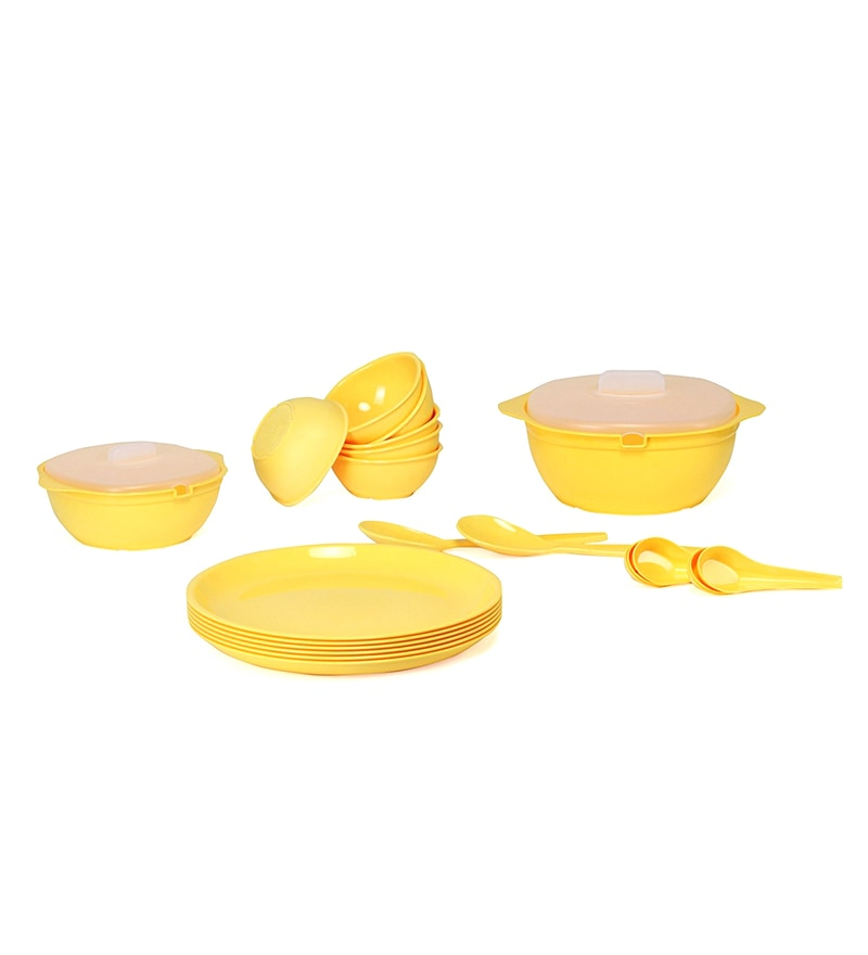 Sugam Yellow Omega Microwave Safe Dinner Sets