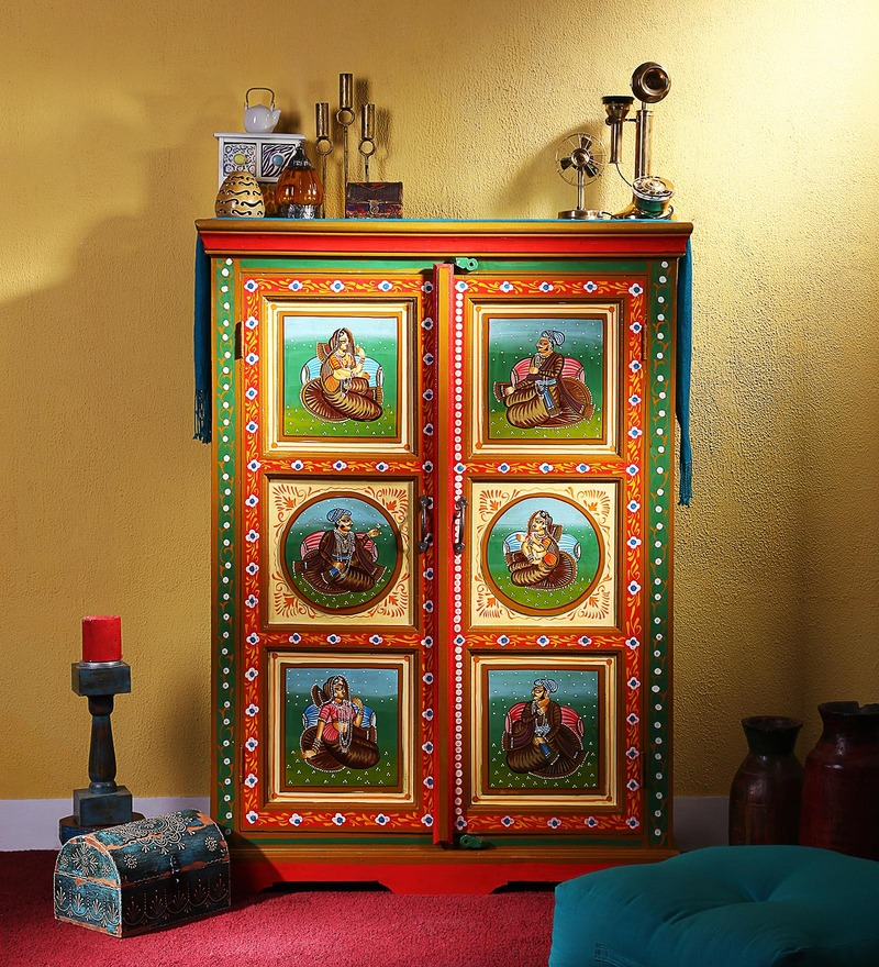 Adhisthan Hand Painted Cabinet by Mudramark