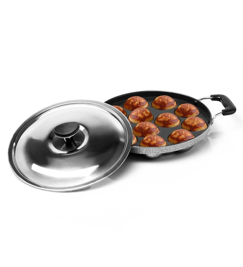 Sumeet Non-Stick Aluminium Heavy Weight Appam Patra with Lid
