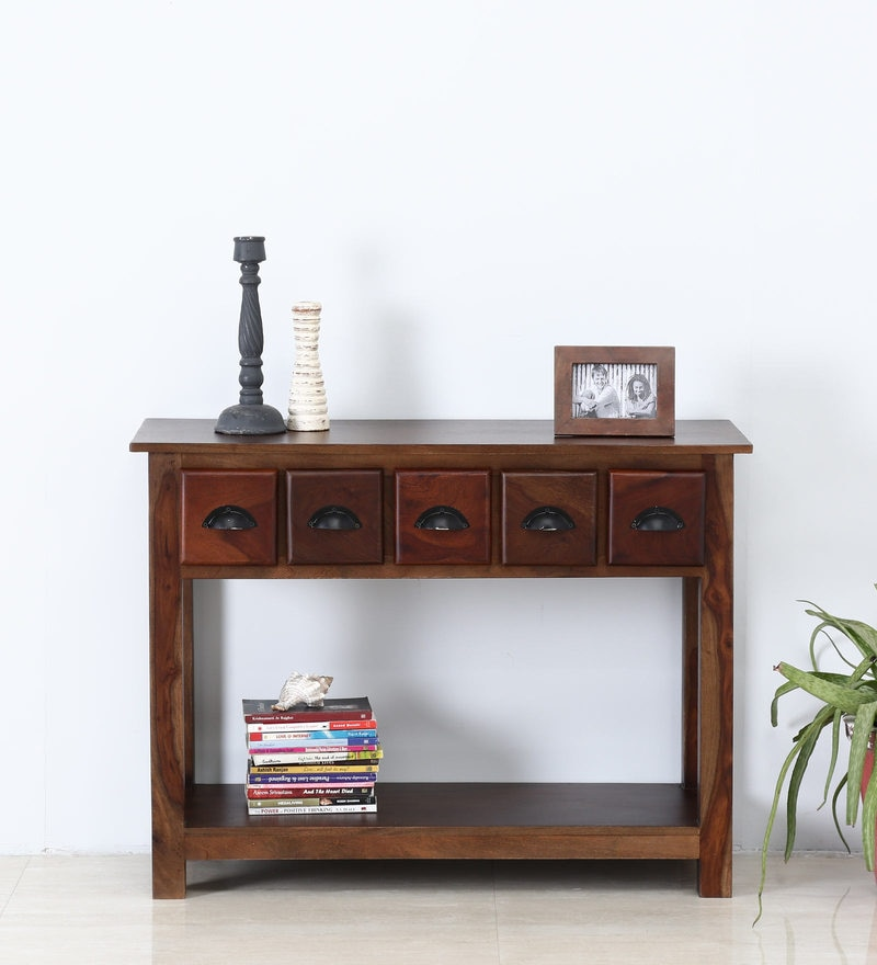 Polson Console Table in Dual Tone Finish by Woodsworth