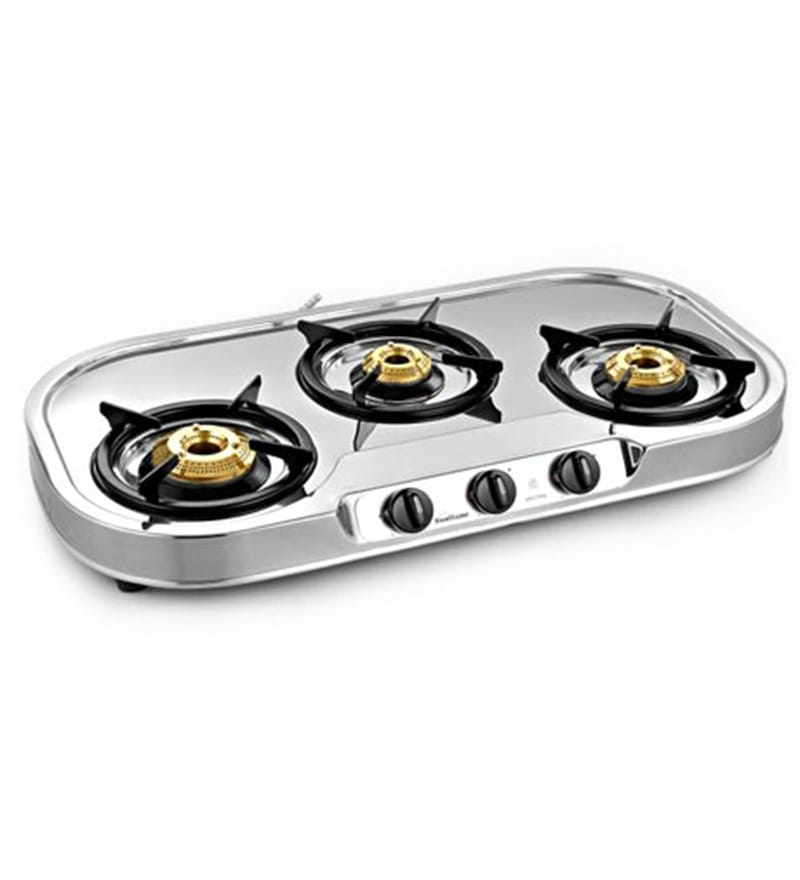 Sunflame Spectra Stainless Steel 3-burner Cooktop