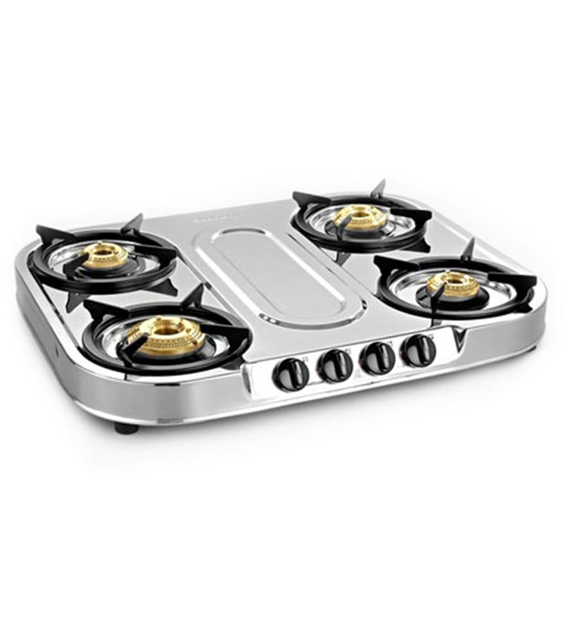Sunflame Spectra Plus Stainless Steel 4-burner Cooktop