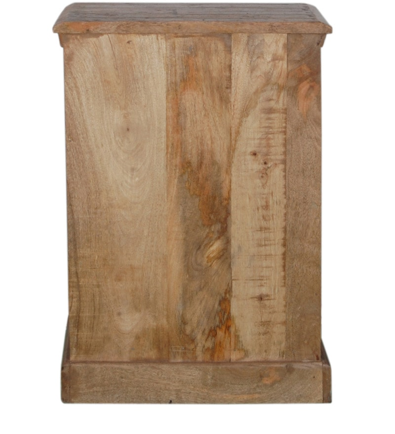 Buy Adele Solid Wood End Table In Distress Finish By