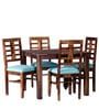 Fallon Four Seater Dining Set in Provincial Teak Finish by Woodsworth
