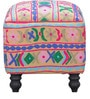 Kaksya Pouffe with Embroidered Fabric by Mudramark