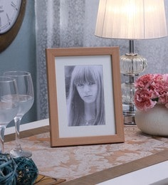 SViRU Beige Synthetic And Glass Single Photo Frame