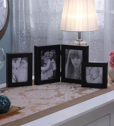 SViRU Black Synthetic And Glass Collage Photo Frame  - Set Of 3