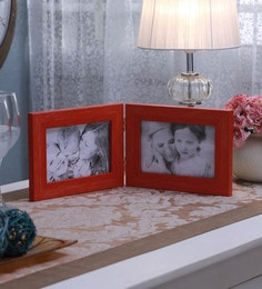 SViRU Orange Synthetic And Glass Collage Photo Frame