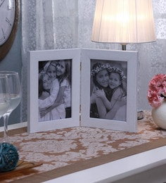 SViRU White Synthetic And Glass Collage Photo Frame