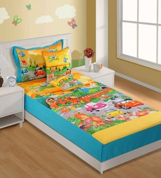 Swayam Single Digital Print Baby Bed Sheet Set With 1 Pillow Cover - 1502028