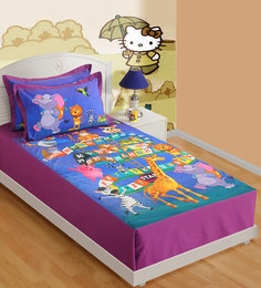 Swayam Single Digital Print Baby Bed Sheet Set With 1 Pillow Cover - 1502033