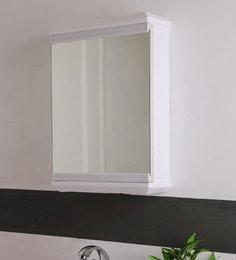 SWK Sanitaryware Nylex White Plastic 14 X 5 X 20.7 Inch Bathroom Mirror Cabinet