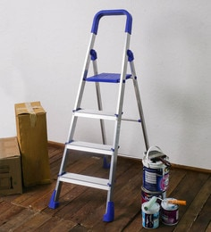 SWK Sanitaryware PPCP & Aluminium 4 Steps 5 FT Folding Ladder